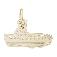 Rembrandt Riverboat Charm, Gold Plated Silver