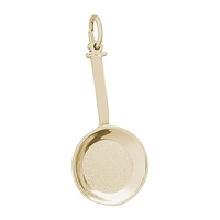 Rembrandt Frying Pan Charm, Gold Plated Silver