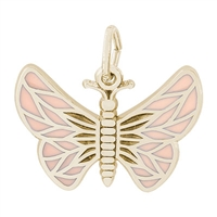 Rembrandt Butterfly Charm, 14K Yellow Gold