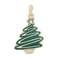 Rembrandt Christmas Tree Charm, Gold Plated Silver