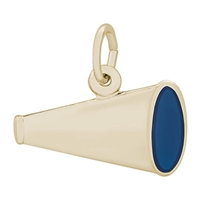 Rembrandt Megaphone Charm, Gold Plated Silver
