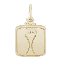 Rembrandt Scale Charm, Gold Plated Silver