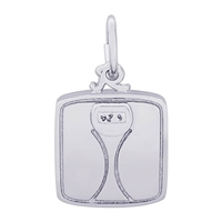 Rembrandt Scale Charm, Sterling Silver
