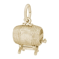 Rembrandt Keg Charm, Gold Plated Silver