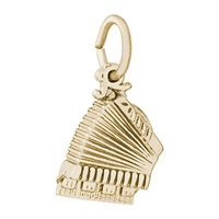 Rembrandt Accordion Charm, Gold Plated Silver