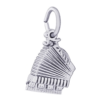 Rembrandt Accordion Charm, Sterling Silver