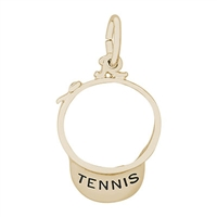 Rembrandt Tennis Visor Charm, 10K Yellow Gold