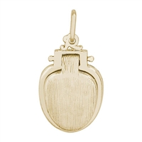 Rembrandt Toilet Seat Charm, Gold Plated Silver