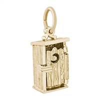 Rembrandt Outhouse Charm, Gold Plated Silver