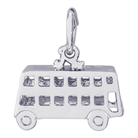 Rembrandt Double Decker Bus Charm, Sterling Silver