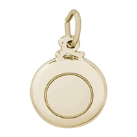 Rembrandt Frisbee Charm, Gold Plated Silver
