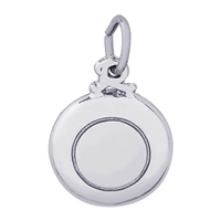 Rembrandt Frisbee Charm, Sterling Silver