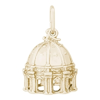 Rembrandt St Pete Basilica Charm, Gold Plated Silver