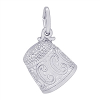 Rembrandt Thimble Charm, Sterling Silver