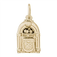 Rembrandt Juke Box Charm, Gold Plated Silver