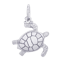 Rembrandt Sea Turtle Charm, Sterling Silver