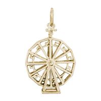 Rembrandt Ferris Wheel Charm, Gold Plated Silver