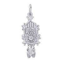 Rembrandt Cuckoo Clock Charm, Sterling Silver