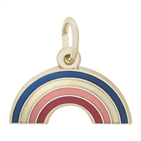 Rembrandt Rainbow Charm, Gold Plated Silver