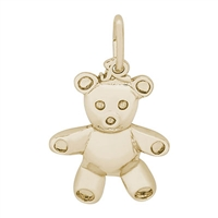 Rembrandt Teddy Bear Charm, Gold Plated Silver