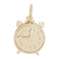 Rembrandt Clock Charm, Gold Plated Silver