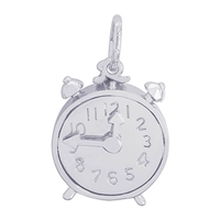 Rembrandt Clock Charm, Sterling Silver