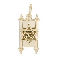 Rembrandt Torah Charm, Gold Plated Silver