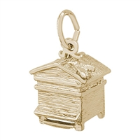 Rembrandt Beehive Charm, Gold Plated Silver