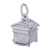 Rembrandt Beehive Charm, Sterling Silver