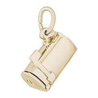 Rembrandt Mailbox Charm, Gold Plated Silver
