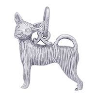 Rembrandt Chihuahua Charm, Sterling Silver
