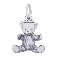 Rembrandt Teddy Bear Charm, Sterling Silver