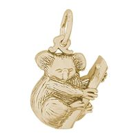 Rembrandt Koala Bear Charm, Gold Plated Silver