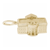 Rembrandt White House Charm, Gold Plated Silver