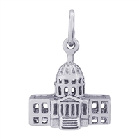 Rembrandt USA Capitol Building Charm, Sterling Silver