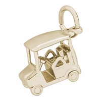 Rembrandt Golf Cart Charm, Gold Plated Silver