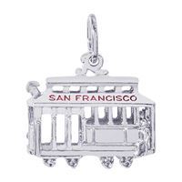 Rembrandt San Francisco Cable Car Charm, Sterling Silver