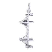 Rembrandt Golden Gate Bridge Charm, Sterling Silver
