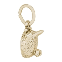 Rembrandt Chicken Charm, Gold Plated Silver