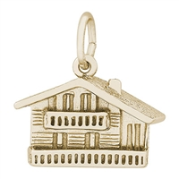 Rembrandt Swiss Chalet Charm, 10K Yellow Gold