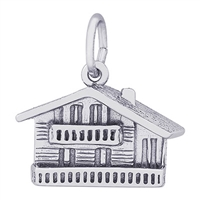 Rembrandt Swiss Chalet Charm, Sterling Silver