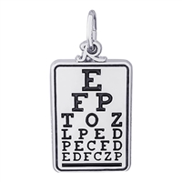Rembrandt Eye Chart Charm, Sterling Silver