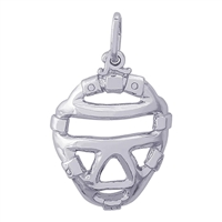 Rembrandt Catcher's Mask Charm, Sterling Silver