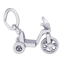 Rembrandt Tricycle Charm, Sterling Silver