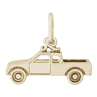 Rembrandt Pick Up Truck Charm, Gold Plated Silver