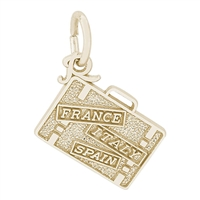 Rembrandt Suitcase Charm, Gold Plated Silver