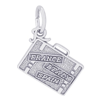 Rembrandt Suitcase Charm, Sterling Silver