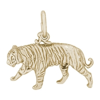 Rembrandt Tiger Charm, Gold Plated Silver