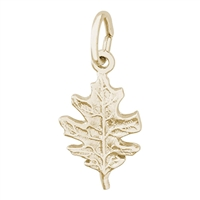 Rembrandt Oak Leaf Charm, Gold Plated Silver