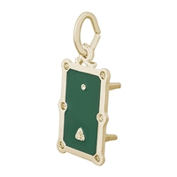 Rembrandt Pool Table Charm, Gold Plated Silver